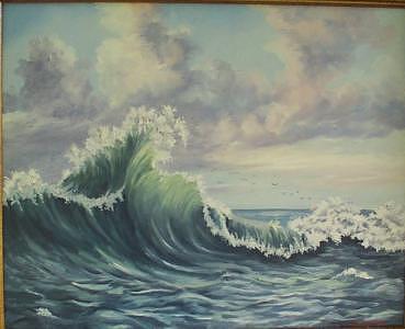 Atlantic Ocean Painting - The Mighty Atlantic by Wanda Dansereau