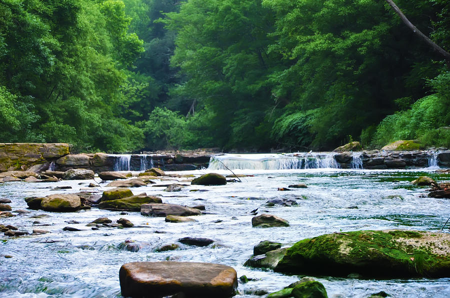 The Mighty Wissahickon Photograph - The Mighty Wissahickon by Bill Cannon