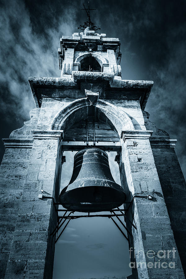 The Miguelete Bell Tower Valencia Spain by Peter Noyce