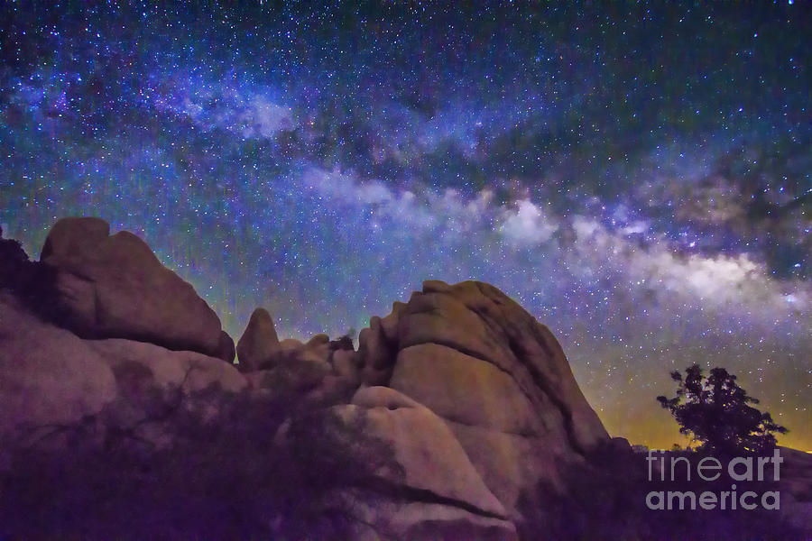 Milky Way Over Indian Rock by Laura Lee