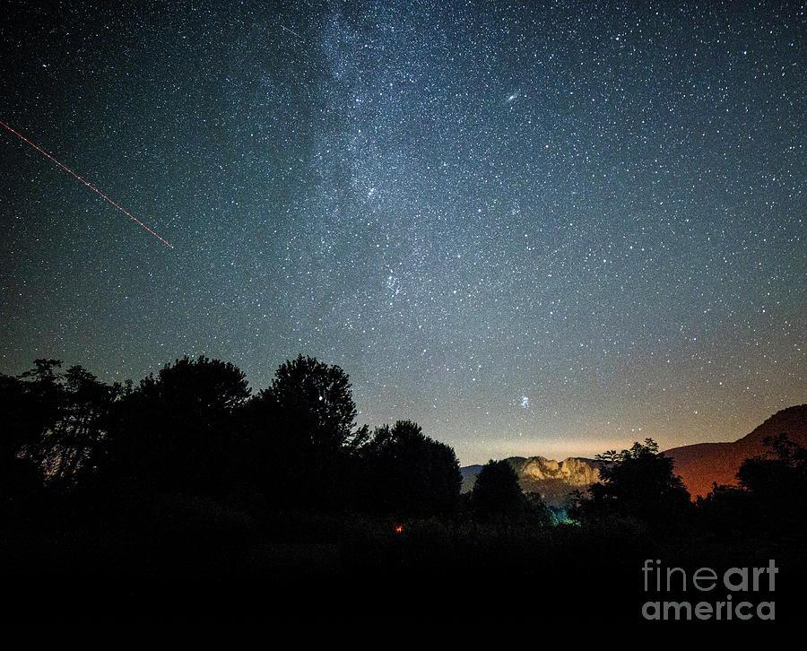 Landscape Photograph - The Milky Way Over Seneca Rocks by Dr Regina E Schulte-Ladbeck