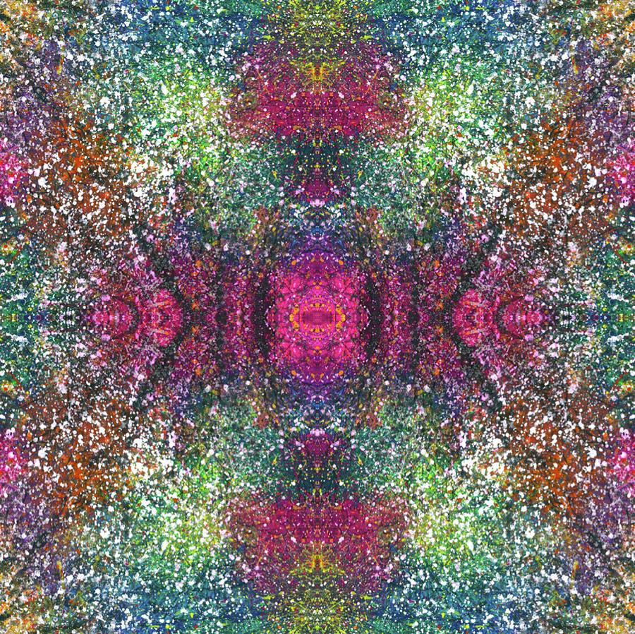 Abstract Mixed Media - The Milky Ways Galatic Plane #1468 by Rainbow Artist Orlando L