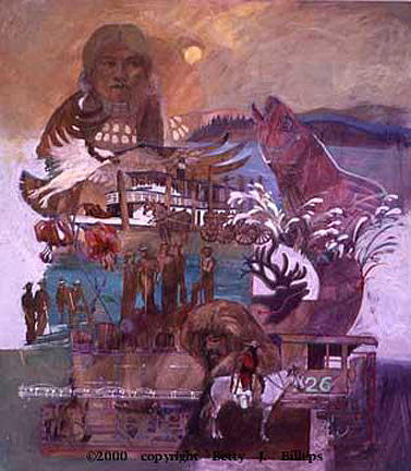 Mixed Media Painting - The Millennium Of The Northwest by Betty Jean Billups