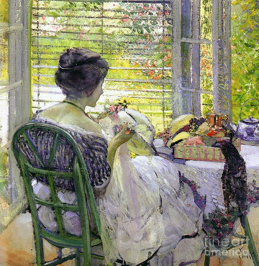 Miller Painting - The Milliner by Richard Edward Miller