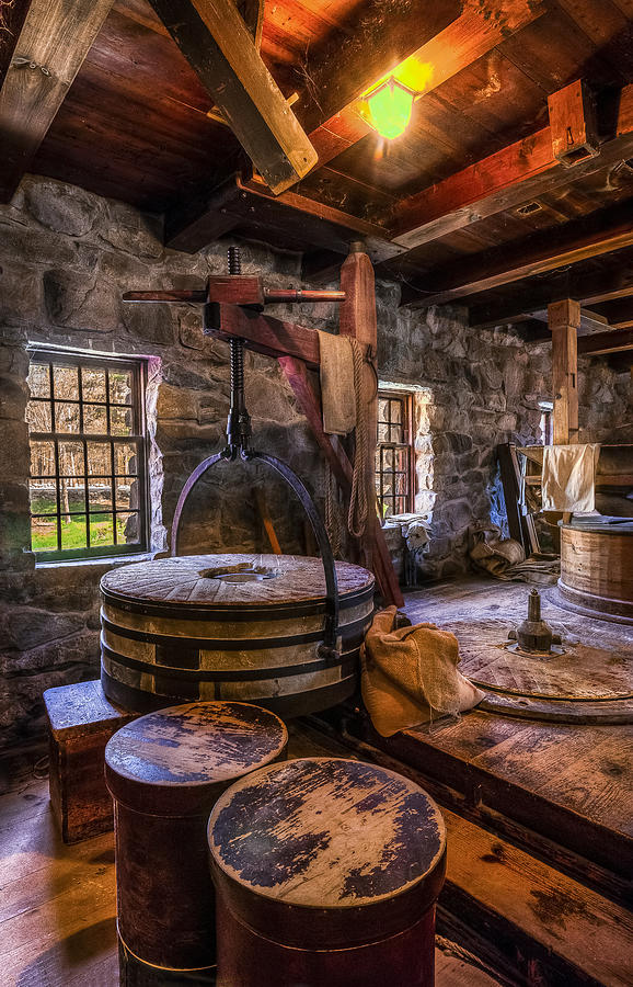 Wayside Inn Grist Mill Photograph - The Milling Room by Mark Papke