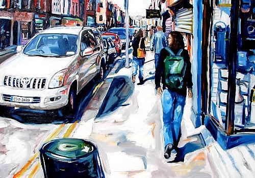 Dublin Painting - The Millionaire In Spirit by Caoimhghin OCroidheain