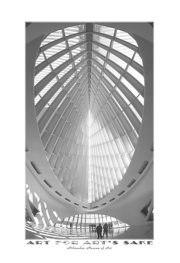Unusual Architecture Photograph - The Milwaukee Art Museum by Mike McGlothlen