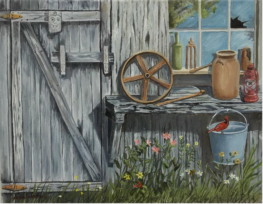 Miners Painting - The Miners Cabin by Wanda Dansereau