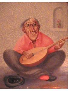 Mandolin Painting - The Minstrel by Gordon Sage