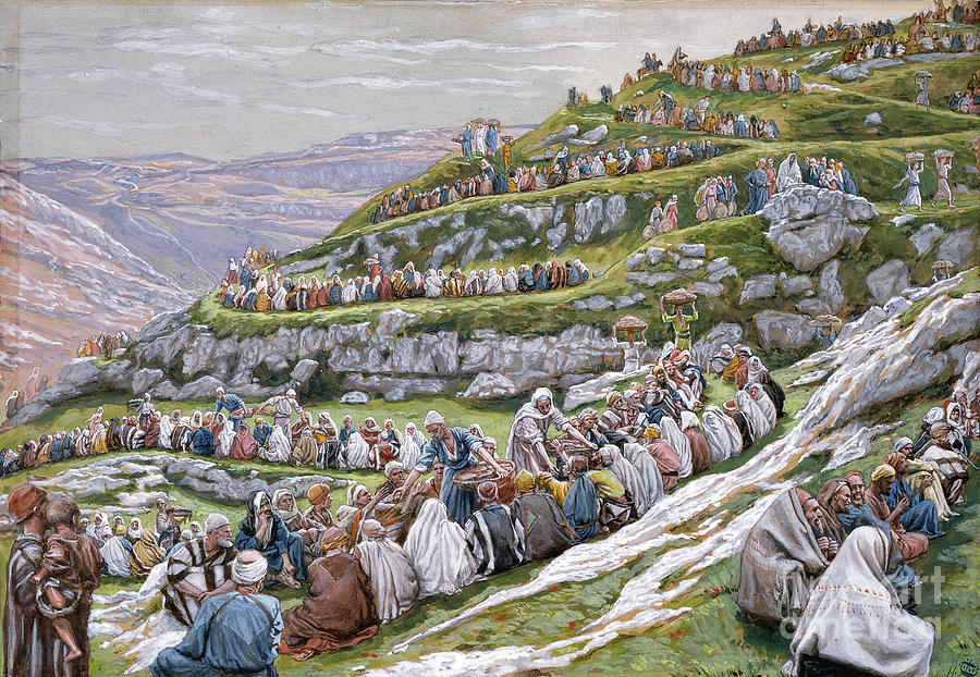 The Painting - The Miracle Of The Loaves And Fishes by Tissot