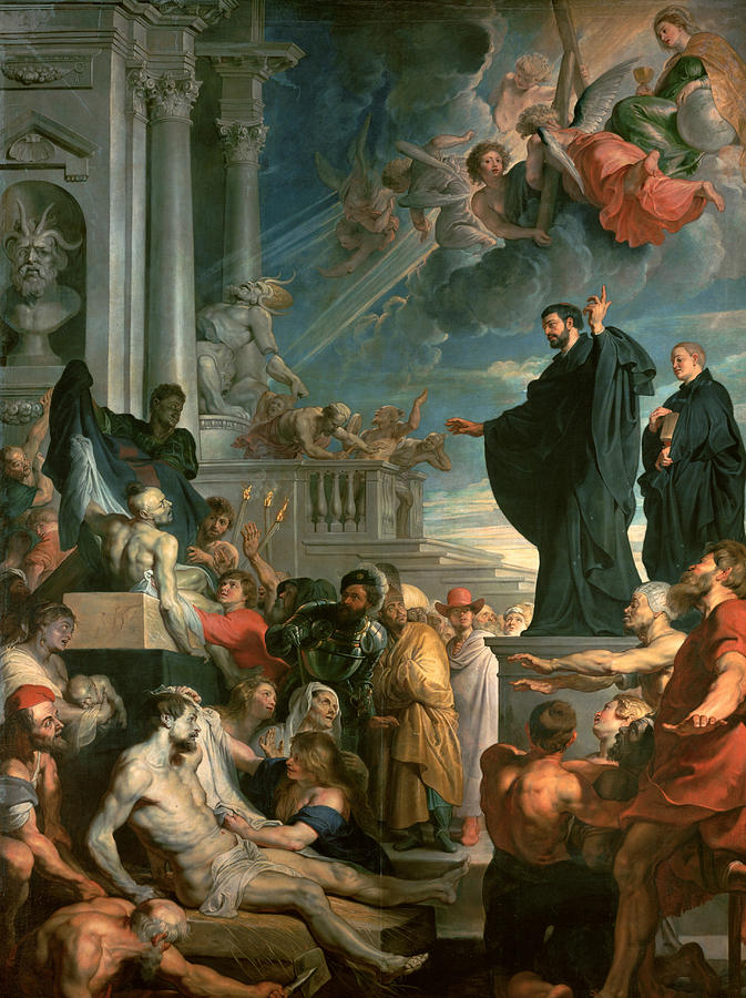 Peter Paul Rubens Painting - The Miracles Of St. Francis Xavier by Peter Paul Rubens