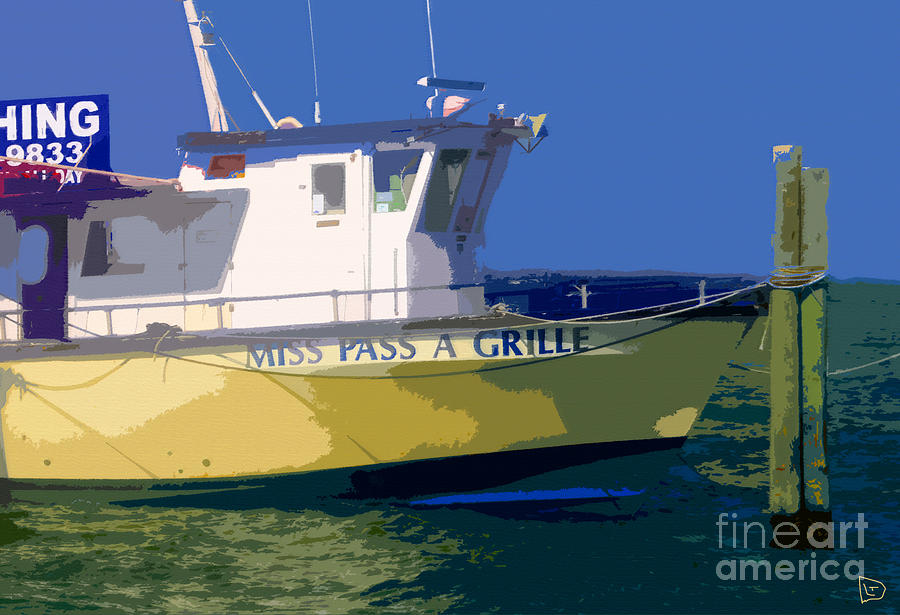 Fishing Painting - The Miss Pass A Grille by David Lee Thompson