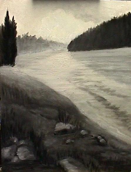Landscape Painting - The Mississippi by Janine Shideler