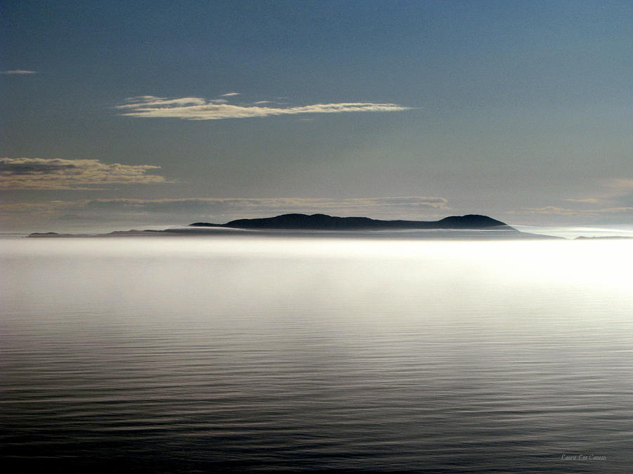 Canada Photograph - The Mists Of Pic Island by Laura Wergin Comeau