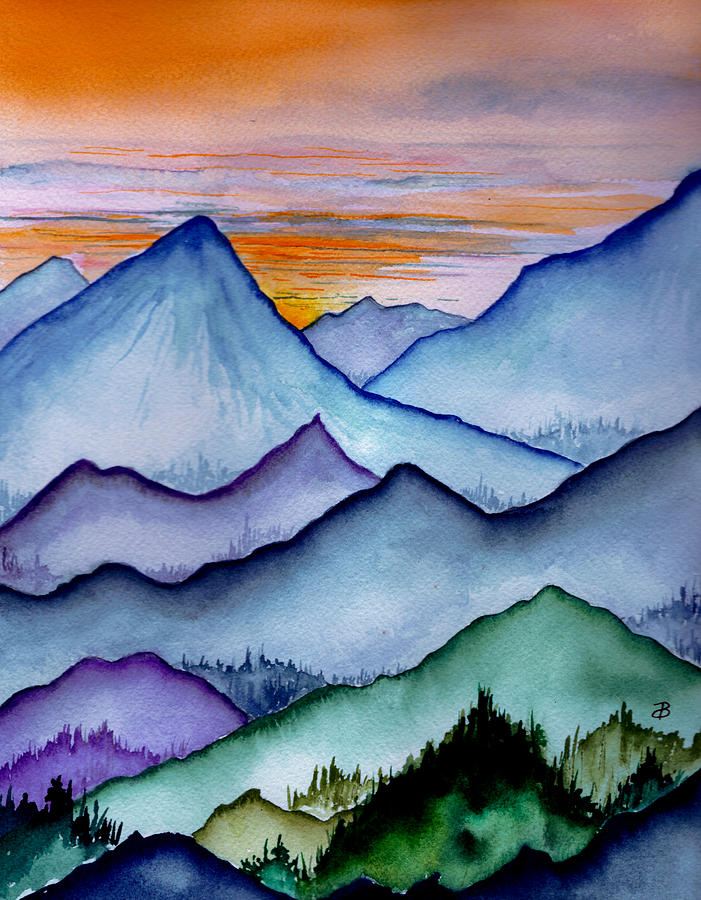 The Misty Mountains Painting By Brenda Owen