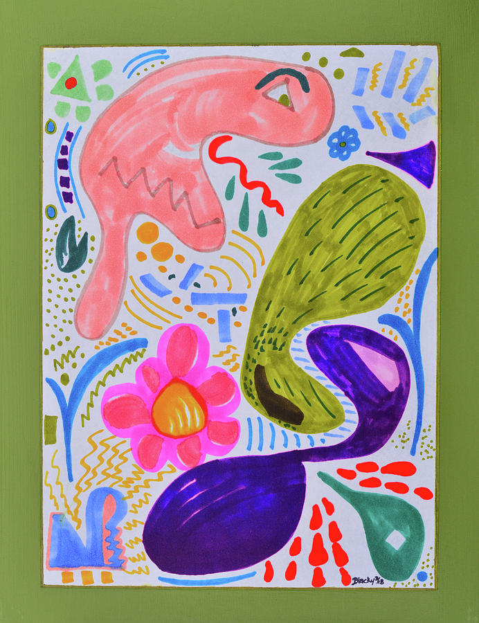 The Misunderstood Pickle Painting by Donna Blackhall