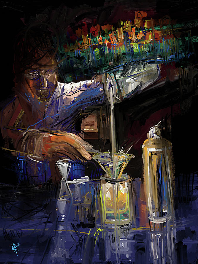 Mixologist Mixed Media - The Mixologist by Russell Pierce