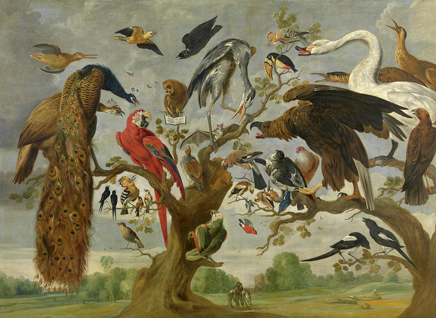 Owl Painting - The Mockery Of The Owl by Jan van Kessel