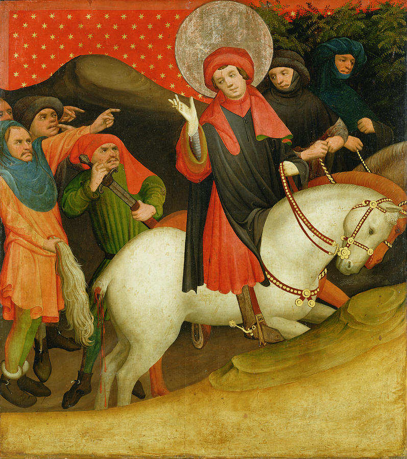 The Painting - The Mocking Of Saint Thomas by Master Francke