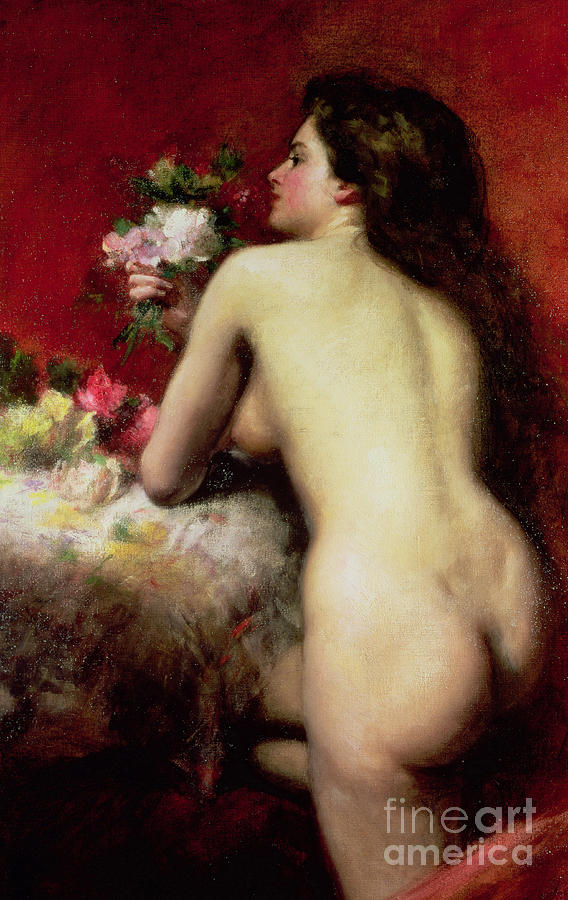 Model Painting - The Model by Charles Emile Auguste Carlous-Duran