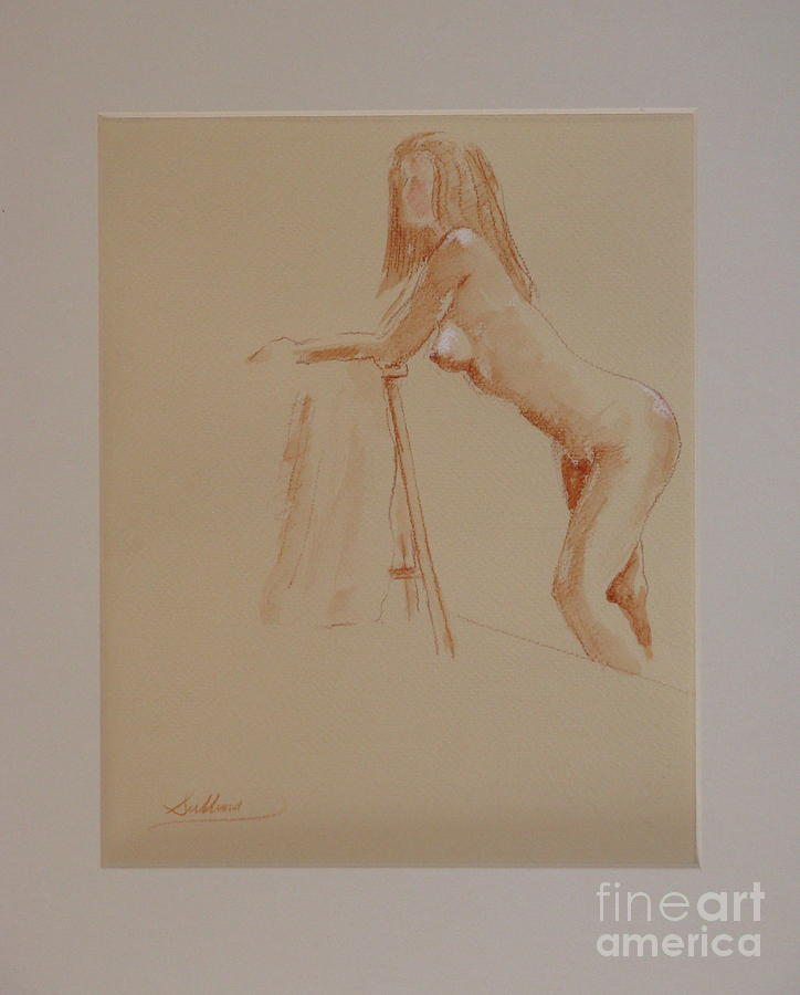 Nude Drawing - The Model Rests by David Sullins