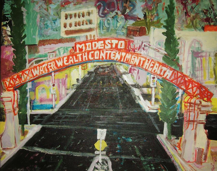 Modesto Painting - the Modesto Arch  by James Christiansen