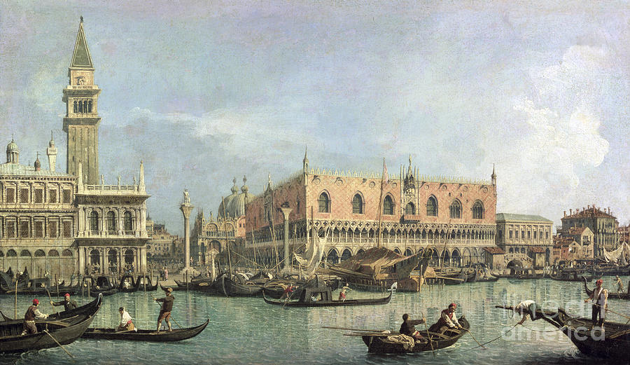 The Painting - The Molo And The Piazzetta San Marco by Canaletto
