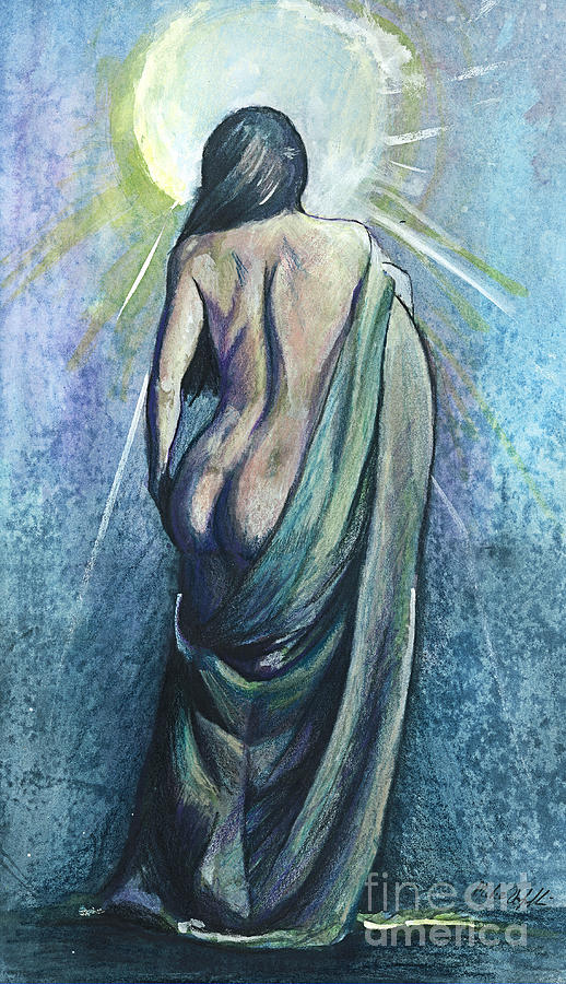 Nude Mixed Media - The Moment Of Enlightenment by Michael Volpicelli