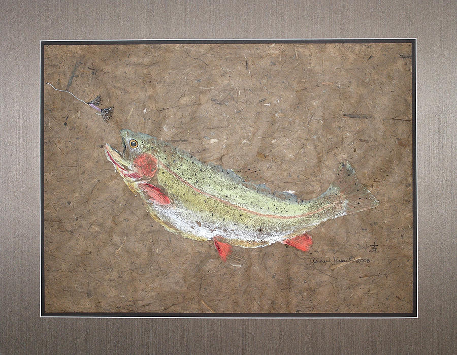 Gyotaku Painting - The Moment Of Truth by Andrew Jensen