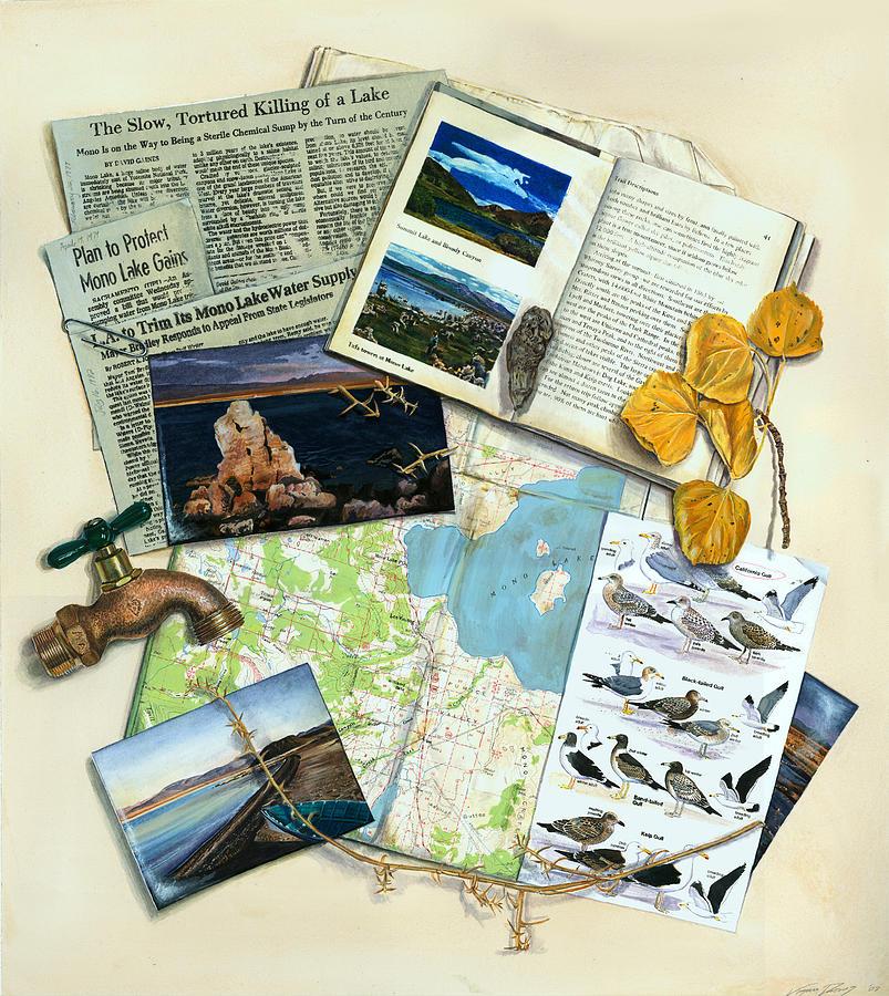 Mono Painting - The Mono Lake Story Trompe Loeil by Logan Parsons