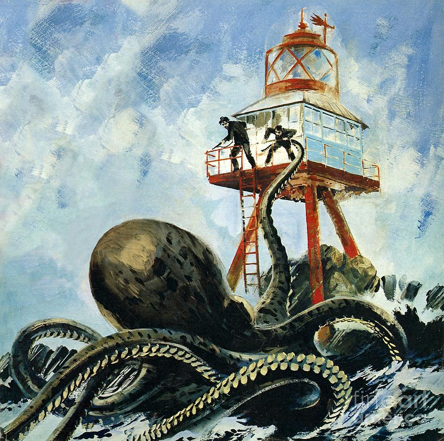 The Painting - The Monster Of Serrana Cay by Graham Coton