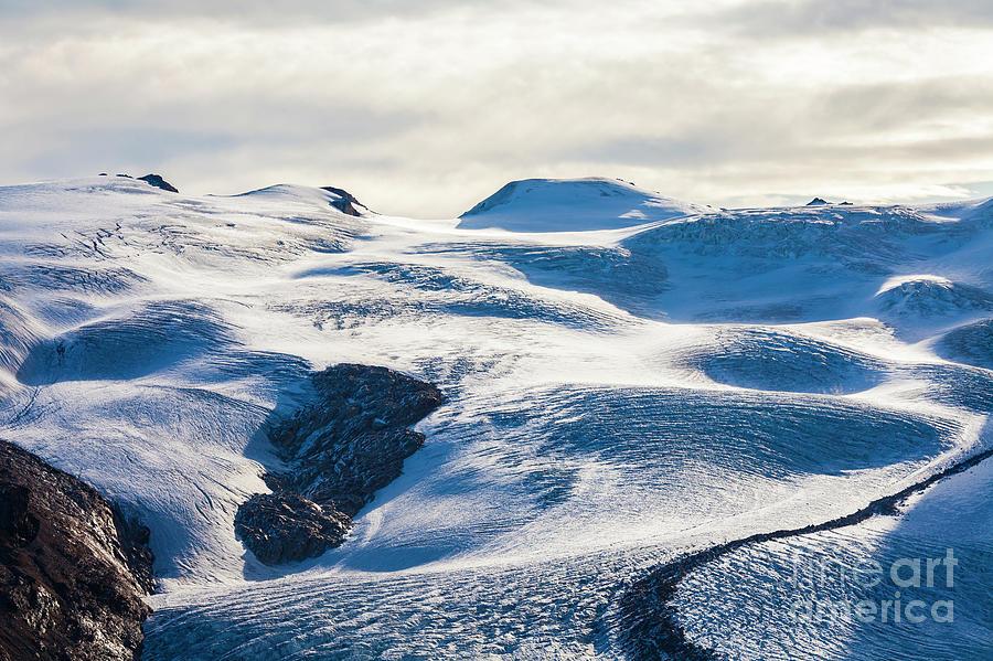 Zermatt Photograph - The Monte Rosa Glacier In Switzerland by Werner Dieterich