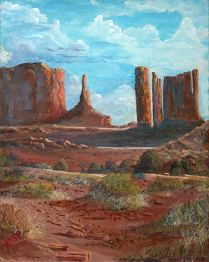 Towers Painting - The Monuments by John Wise