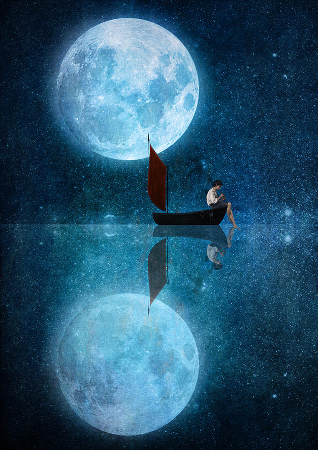 The Moon And Me Digital Art By Diogo Verissimo