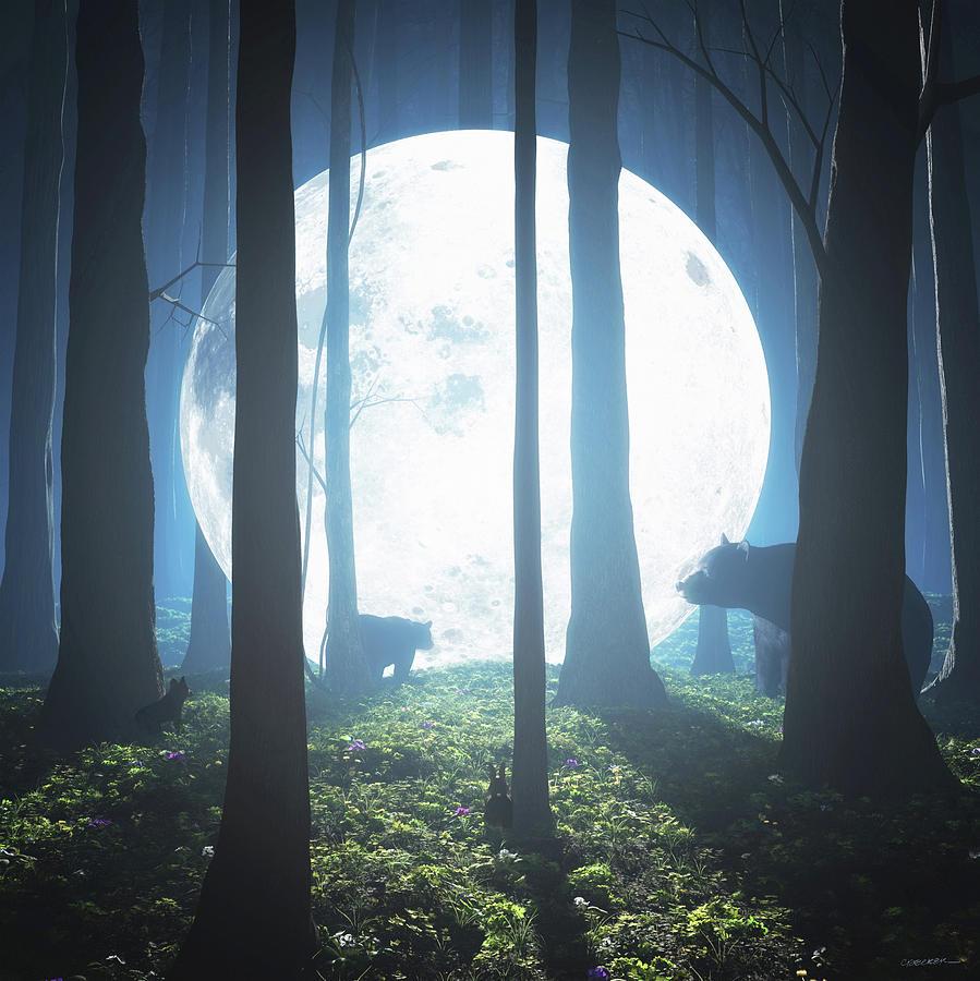 Moon Digital Art - The Moon Landing by Cynthia Decker
