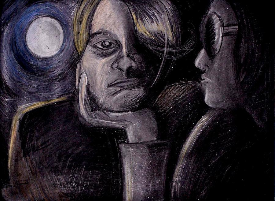 Night Drawing - The Moon Shines And I Become Alive by Corey Stewart