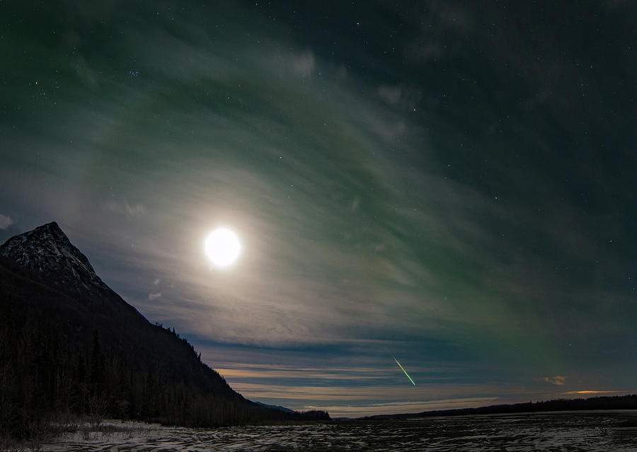Majesty Photograph - The Moondog And The Meteor by The Captivated Projects