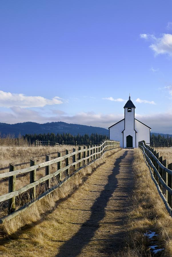 Alberta Photograph - The Morley Church, Alberta, Canada by Philippe Widling