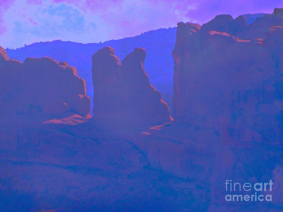 Arches National Monument Digital Art - The Morners by Annie Gibbons