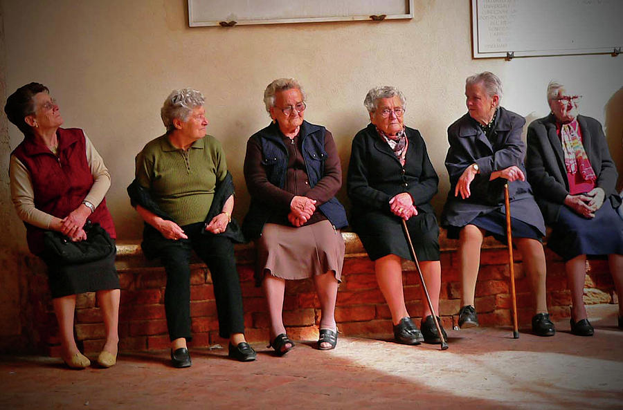 Women Photograph - The Morning Gossip by Angela Wright