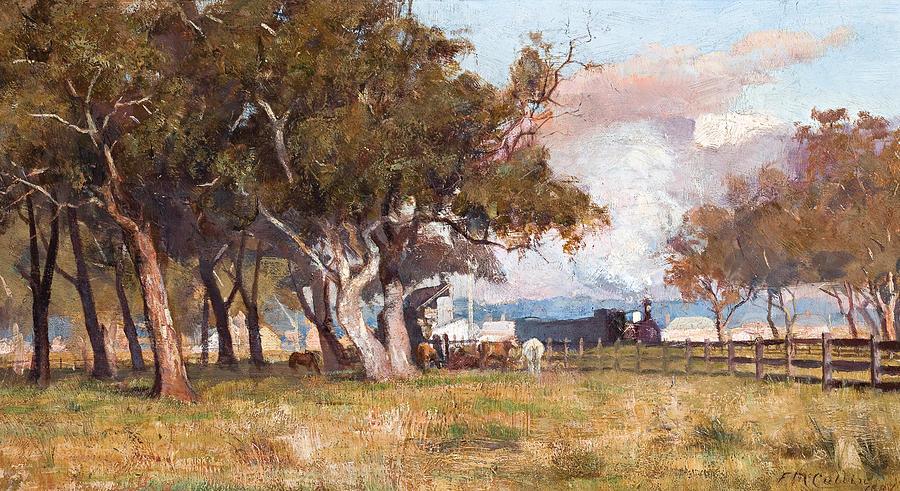 Frederick Mccubbin Painting - The Morning Train by Frederick Mccubbin