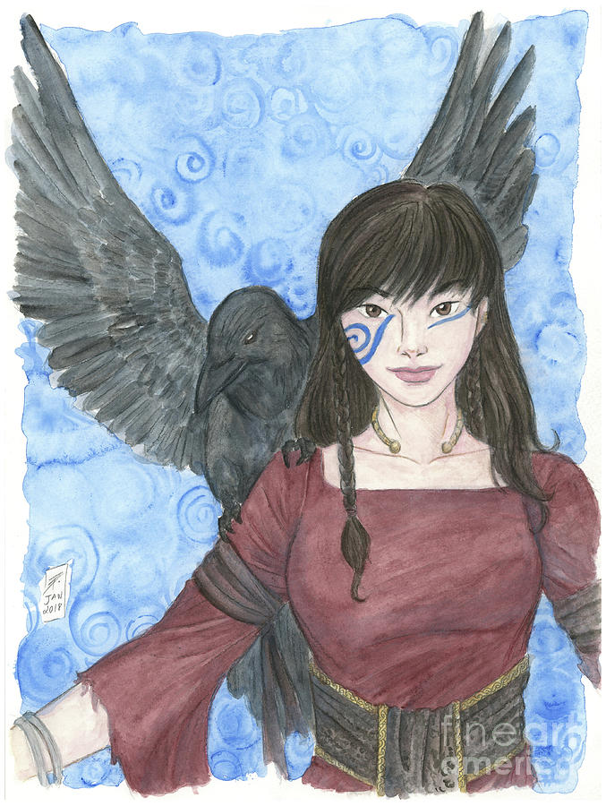 Watercolor Painting - The Morrigan by Brandy Woods
