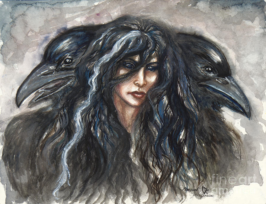 The Morrigan Painting by Laura Cameron