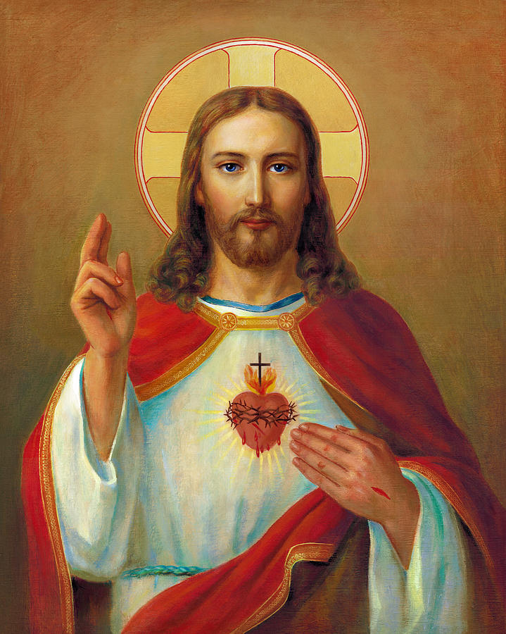 The Most Sacred Heart Of Jesus by Svitozar Nenyuk