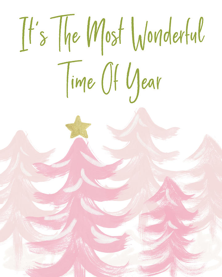 Holiday Mixed Media - The Most Wonderful Time- Art By Linda Woods by Linda Woods