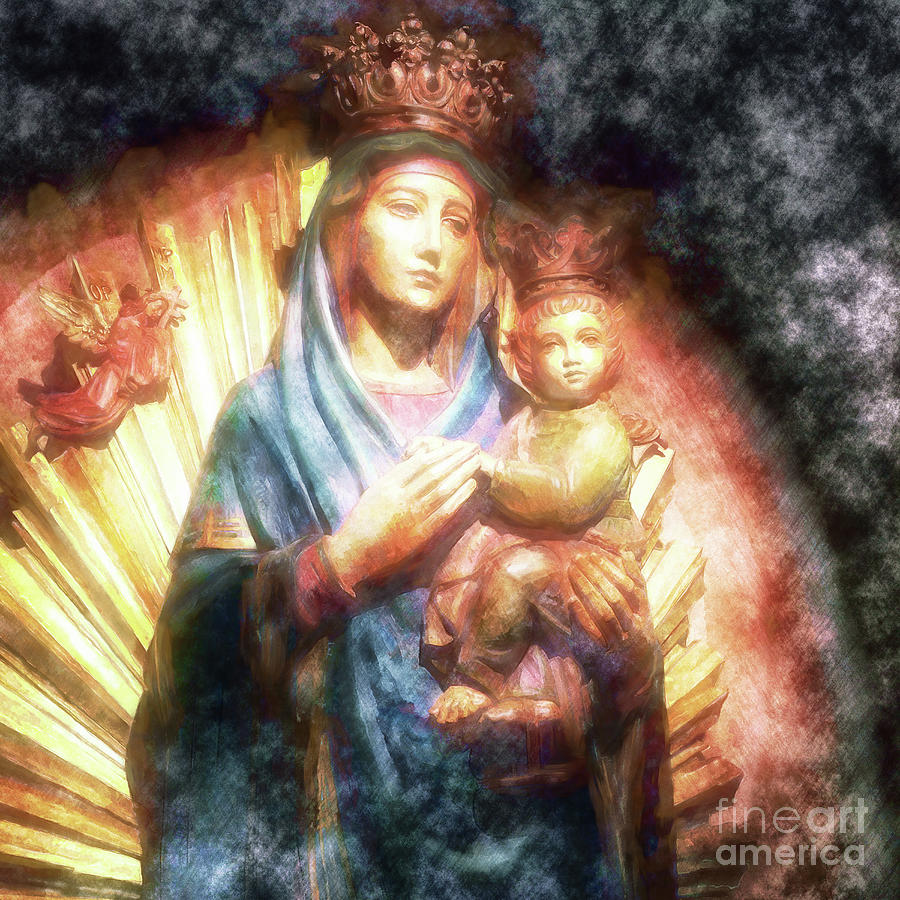 Mother Mary Photograph - The Mother Of The King Is Queen by Davy Cheng