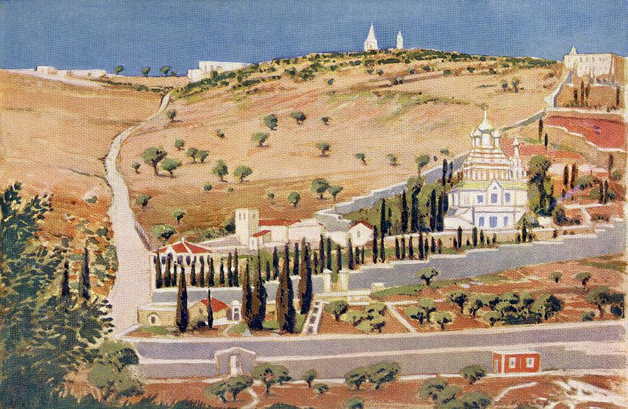 Line Drawing Jerusalem : The mount of olives jerusalem drawing by vintage design pics