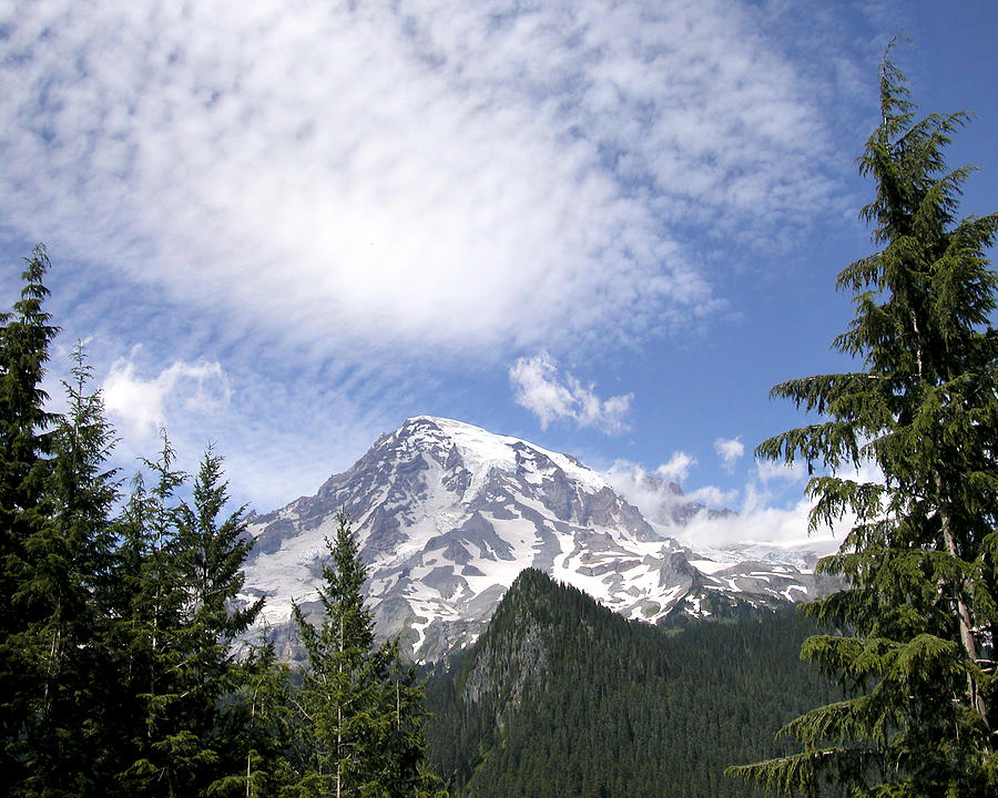 Mountain Photograph - The Mountain  Mt Rainier  Washington by Michael Bessler