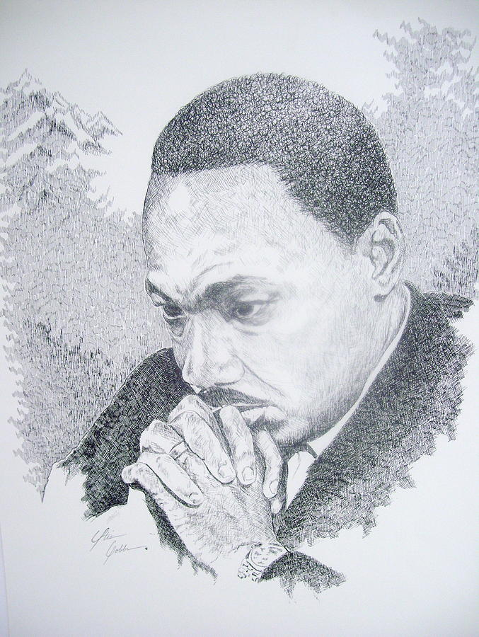 Martin King Drawing - The Mountain Top by Otis  Cobb