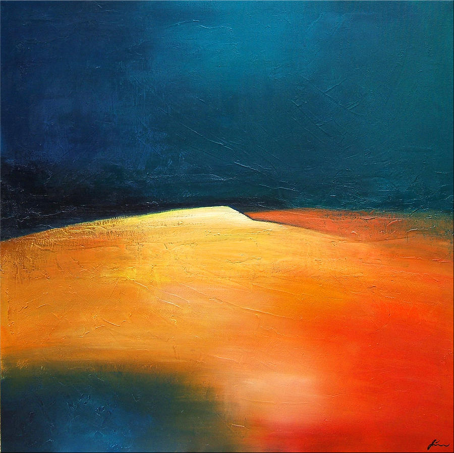 Abstract Painting - The Mountaintop by Jeffrey Jinyu Liu